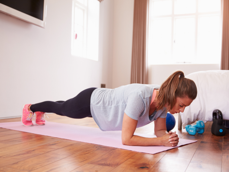 Planking Strength Training Exercises